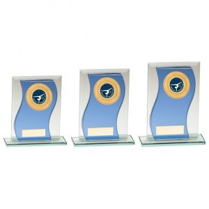 Azzuri Wave Multisport Mirror Glass Award Blue & Silver