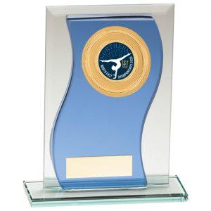 Azzuri Wave Multisport Mirror Glass Award Blue & Silver – 145mm