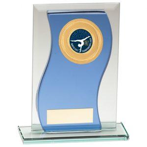 Azzuri Wave Multisport Mirror Glass Award Blue & Silver – 165mm