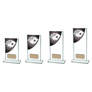 Colour Curve Poker Jade Glass Award
