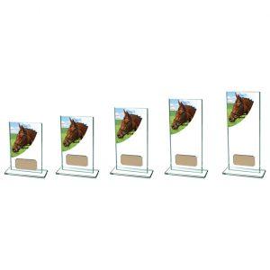 Equestrian Colour-Curve Jade Glass