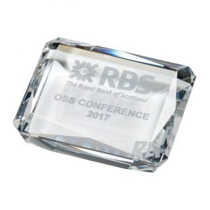 Lincoln Optical Crystal Paperweight 100mm