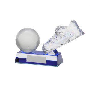 Legacy Football Boot & Ball Crystal Award100mm