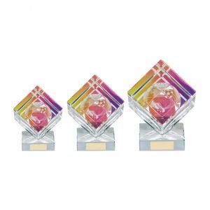 Victorious Football Crystal Cube Award
