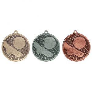 SPECIAL OFFER 50mm Football Medal w/Ribbon & FREE Centre
