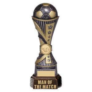 All Stars Football Man Of The Match Antique Silver & Gold 260mm