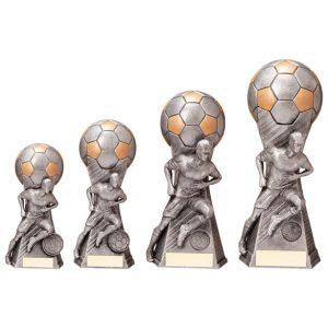 Trailblazer Football Award Antique Silver