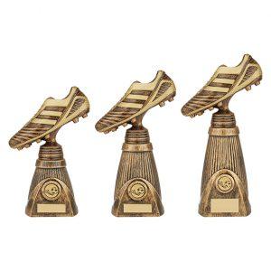 World Striker Deluxe Football Boot Award Antique Bronze & Gold