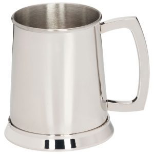 The Brannigan Polished Steel Tankard  125mm 1pt