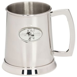 Stadia Football Polished Steel Tankard 125mm 1pt