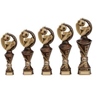 Renegade Football Heavyweight Award Antique Bronze & Gold