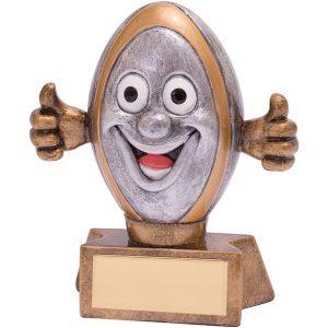 Smiler Rugby Award 95mm