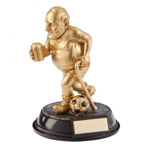 Outrageous Beer Belly Football Old Git Award 110mm