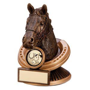 Endurance Equestrian Horse Head Award 125mm
