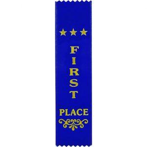 Recognition 1st Place Ribbon Blue 200 x 50mm
