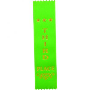 Recognition 3rd Place Ribbon Green 200 x 50mm