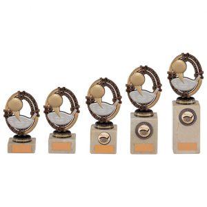 Maverick Legend Block Trophy Golf Bronze