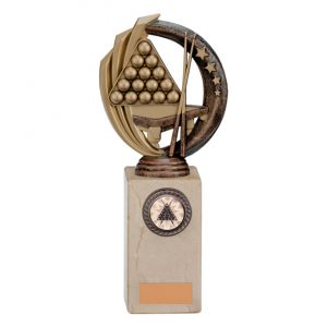 Renegade Snooker Legend Award Antique Bronze & Gold
