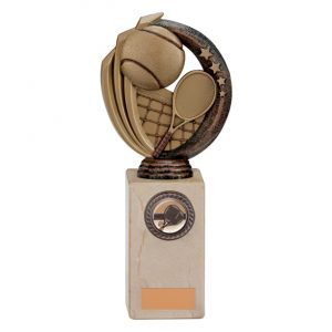 Renegade Tennis Legend Award Antique Bronze & Gold