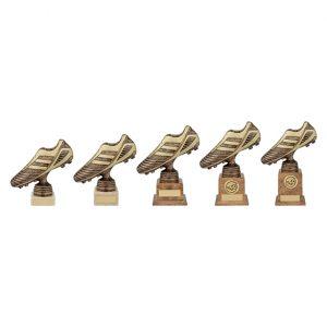 World Striker Premium Football Boot Award Antique Bronze & Gold