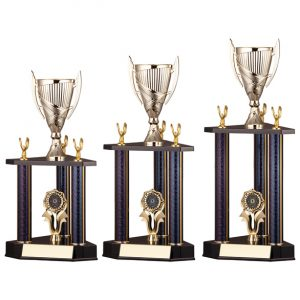 Epic Triple Tower Trophy Black & Gold