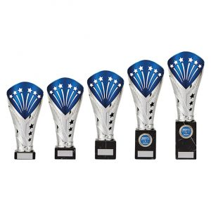 All Stars Large Rapid Trophy Silver & Blue