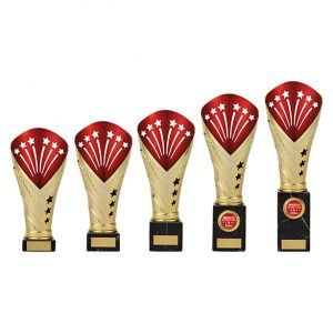 All Stars Large Rapid Trophy Gold & Red