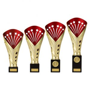 All Stars Super Rapid Trophy Gold & Red