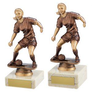 Swerve Football Female Trophy