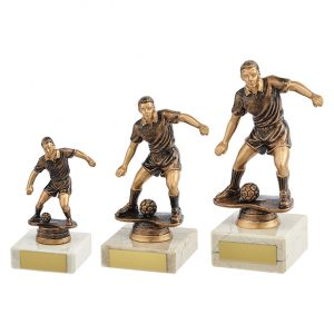 Dominion Football Trophy Antique Bronze & Gold