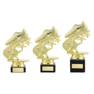Champions Football Boot Trophy Gold