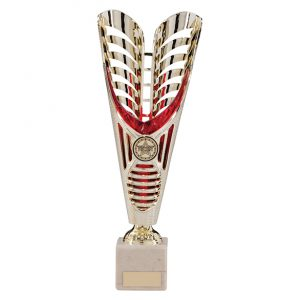 Monument Plastic Laser Cut Cup Gold & Red – 285mm