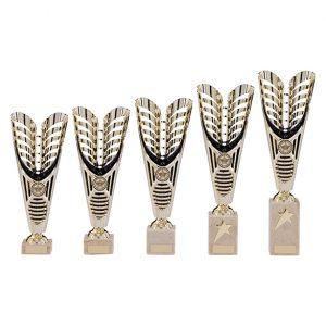 Monument Plastic Laser Cut Cup Gold & Black