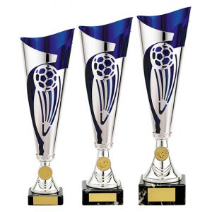 Champions Football Cup Silver & Blue