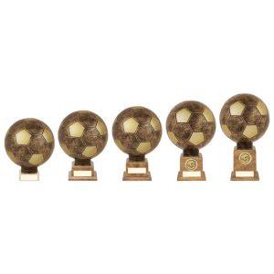 Planet Football Legend Rapid 2 Trophy Antique Bronze & Gold