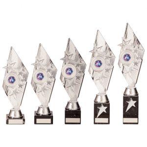 Pizzazz Plastic Trophy Silver