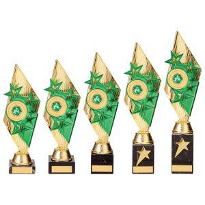 Pizzazz Plastic Trophy Gold & Green