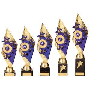 Pizzazz Plastic Trophy Gold & Purple