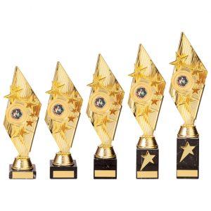 Pizzazz Plastic Trophy Gold