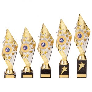 Pizzazz Plastic Trophy Gold & Silver