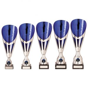 Rising Stars Deluxe Plastic Lazer Cup Silver & Blue
