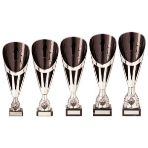 Rising Stars Deluxe Plastic Lazer Cup Silver & Black
