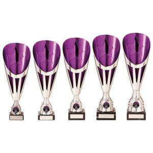 Rising Stars Deluxe Plastic Lazer Cup Silver & Purple