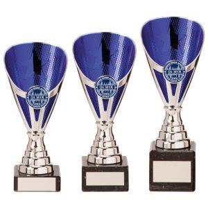 Rising Stars Premium Plastic Trophy Silver & Blue