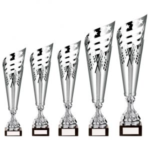 Monza Lazer Cut Metal Cup Silver & Black