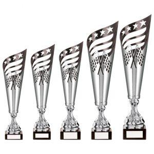 Monza Lazer Cut Metal Cup Silver