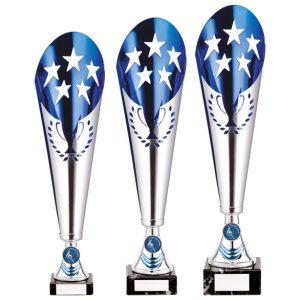 Legendary Lazer Cut Metal Cup Silver & Blue