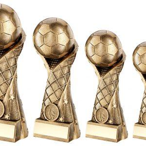 BRZ/GOLD FOOTBALL ON STAR NET RISER TROPHY