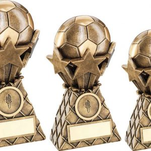 BRZ/GOLD FOOTBALL AND STARS NET BURST TROPHY