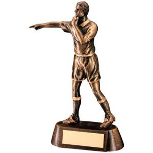 BRZ/GOLD RESIN REFEREE FIGURE TROPHY – 6.75in